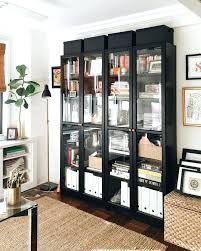 billy bookcase with glass doors ikea display decorating small spaces you
