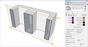 a section cut can show empty space where the real life object would be solid