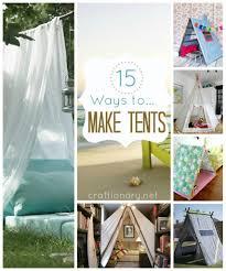 15 ways to make tent diy tent