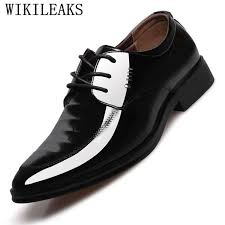 2018 luxury mens dress shoes patent leather oxford shoes for men business leather shoes men italian