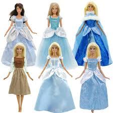 Phụ Kiện Búp Bê Cổ Điển Truyện Cổ Tích Xanh Dương Công Chúa Bộ Trang Phục  Đảng Bầu Quần Áo Cho Búp Bê Barbie Đồ Chơi Trẻ Em|Dolls Accessories