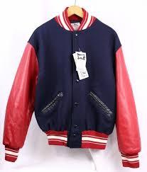 Delong Jacket Size Chart Delong Red White Navy Blue Varsity Letterman Letter Jacket