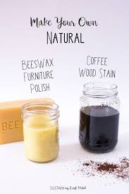 DIY Natural Coffee Wood Stain and Beeswax Furniture Polish