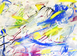 a beautiful and bright multicolored abstract hand painted art background the colors of blue