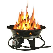 Outland Firebowl Cypress 21 In Steel Portable Propane Fire Pit With Cover And Carry Kit 863 The Home Depot