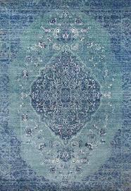 edene distressed blue medallion fl rug