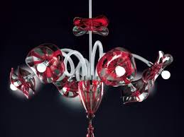 red clear modern venetian murano glass chandelier dml512k6
