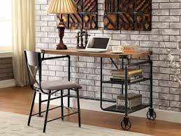 industrial style furniture. Industrial Style Piping Metal Wood Writing Desk | Furniture Of America DK6913