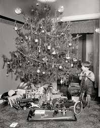 Image detail for -1920s Christmas. Is that tree or what?