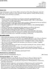 police officer resume example Police Officer Resume Example john doe