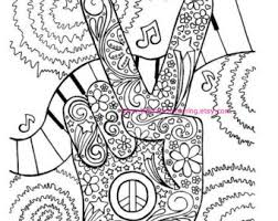 Small Picture Adult Coloring Page Hippie Retro Peace Colouring
