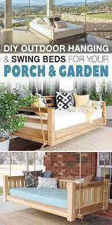 diy outdoor hanging swing beds for
