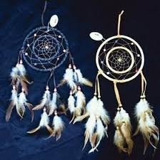 Double Dream Catchers Amazon Dreamcatcher Double Ring with Beads Feathers 100100 21