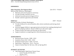 Resume Templates For Highschool Students Emr Resume Client