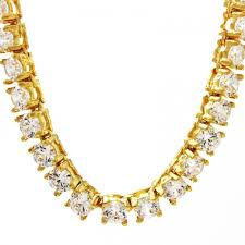 tennis diamond gold chain zoom