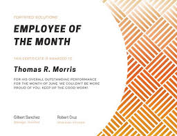 Free Employee Of The Month Certificate Template Gorgeous Employee Of The Year Award Certificate Templates By Canva