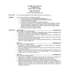 mechanical sample resume mechanical technician resume sample airexpresscarrier com