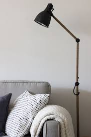 West Elm Inspired Industrial Floor Lamp An Ikea Hack Hektar Ikea