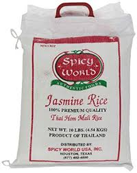bag of jasmine rice. Spicy World Pure Jasmine Rice From Thailand Bag Throughout Of
