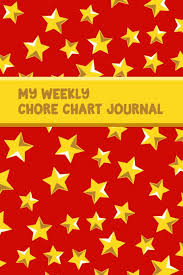 My Weekly Chore Chart Journal Gold Stars Daily Homework And