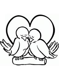 Kleurplaat Twee Vogels Zijn Verliefd Op Elkaar Kleurplaatjecom