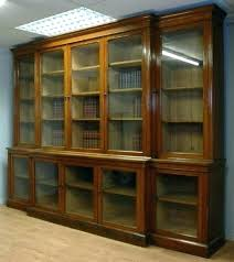 oak bookcases with doors bookcase sliding white glass door oak bookcases with doors bookcase sliding white glass door
