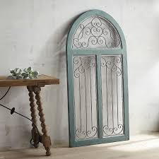 blue antiqued arch wall everything turquoise rustic door bathroom plaques and signs dining room orative mirrors wrought iron art country kitchen gate big