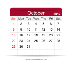 printable calendar october 2017 by 123freevectors on deviantart