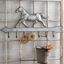 Horse Coat Rack Metal Horse Coat Rack With 100 Hooks Antique Farmhouse 75