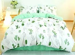 white bed set green painting cactus printed fresh style cotton 4 piece white bedding sets white white bed set