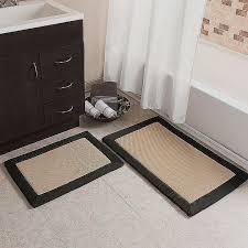 cut to size bathroom rugs unique pier 1 imports tan black memory foam bath rug