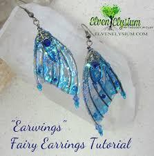 free diy fairy wing earrings tutorial