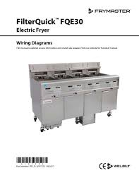 welbilt product filterquick electric wiring diagrams manual