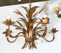 antique tole chandelier spectacular french wheat tole chandelier in gilded metal at a vintage regency style