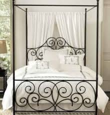 Black iron bed #7 | Home Ideas in 2019 | Iron canopy bed, Queen ...