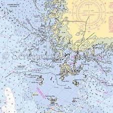 Florida Cedar Keys Nautical Chart Decor