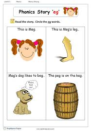 These free phonics worksheets may be used independently and without any obligation to make a purchase, though they work well with the excellent phonics dvd and phonics audio cd programs developed by rock 'n learn. Word Family Story Eg English Phonics Worksheet English Treasure Trove