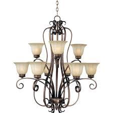 maxim lighting international fremont nine light chandelier