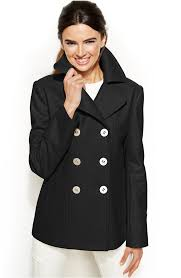 kenneth cole reaction wool blend pea coat