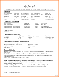 8 Curriculum Vitae For Doctors Sample Theorynpractice