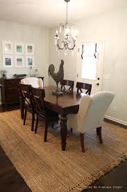 fantastic jute rug under dining table photograph