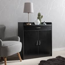 office sideboard. Sideboard \u2013 Home Office Cupboard Shoe Cabinet Unit Chest With Drawer And Shelves (Black I