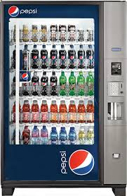 Pepsi Glass Front Vending Machine Delectable BEVERAGE