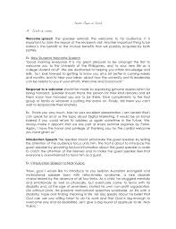 Graduation Speech Example Template Special Types Of Speech A Speech Of Courtesy Welcome Speech The 17