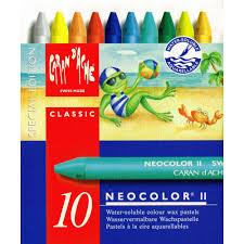 Caran Dache Neocolor Ii Watercolor Crayon Set Of 10 Summer Colors