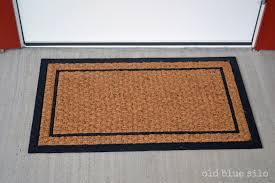 Front Door Mats Regarding Old Blue Silo DIY Custom Mat Prepare Uk ...