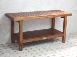 ... Cool Shower Seat Ideas : Inspiring Home Furniture Design Of Brown  Wooden Shower Bench Combine With ...