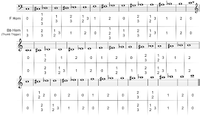 Double Bass Finger Chart Pdf 54 Unique French Horn Bass Clef Chart