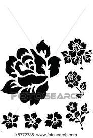 ベクトル バラ そして 花 アイコン クリップアート切り張りイラスト絵画集