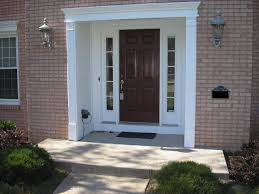 the front doorFurniture The Exterior Door With Sidelight to Decorate The Main